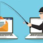 Cybercriminal phishing attack